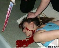 【本物レ○プ】拉致してレイプした女の首を切るキチガイ映像・・・