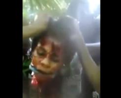 【グロ動画】少女の首を切り取るガチヤバ殺人映像・・・ 閲覧注意