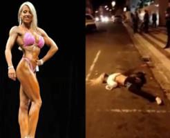 【閲覧注意】女性のボディビルダーが飛び降り自殺したらこうなる・・・
