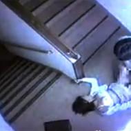 【本物レイプ】防犯カメラに映ってしまったJC少女が非常階段で無理やり犯されている強姦事件映像がコレ・・・ ※無修正エロ動画