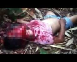 【グロ動画】撲殺された中学生少女・・・顔面血塗れで発見される