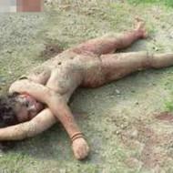【処刑動画】女性を全裸にして火をつけて撲殺するだけの動画・・・