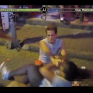 【衝撃映像】売春婦の喧嘩にHPゲージ付けて格ゲーっぽくしたらラウンド3まで続いたwinタイ売春街
