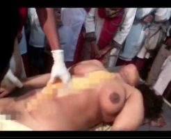 【女 解剖】若くて巨乳な女の子の死体手に入ったから全裸にしておっぱい付近くぱぁ~してみたったw ※エログロ動画