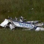 【墜落事故】沼地に飛行機墜落→パイロット衝撃で機体の外へ→救助に行く→ワニに食われてる←今ここ ※衝撃映像