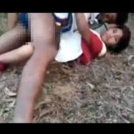 【レイプ動画】帰宅途中のJKさんが拉致られ森に連れ込まれて犯されまくるガチもの映像がコレ・・・ ※無修正