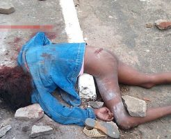 【グロ画像】おマンコ丸出しの少女さん 犯されてから頭に投石されてぶち殺されていた模様w ※レイプ殺人