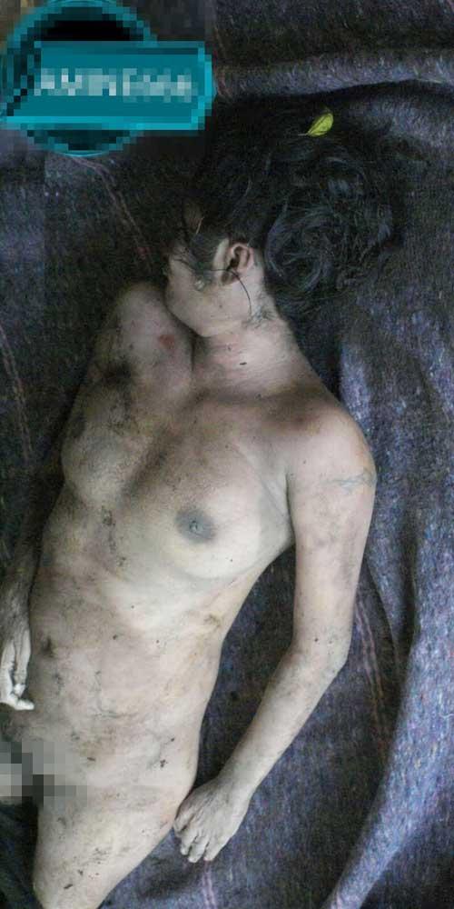 土に埋められていたレイプ死体グロ画像