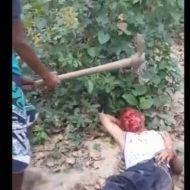 【グロ動画】つるはしをホームレスの頭に突き刺し殺害 ベネズエラの若者たちがヤバ過ぎる・・・