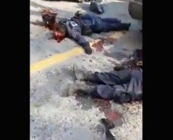 【グロ動画】麻薬カルテルに襲撃された警察官 皆殺しにされてしまう・・・