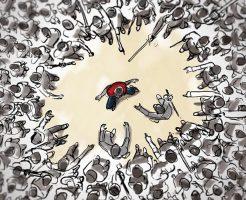 【グロ動画】群衆に囲まれリンチされる男性 頭が割れるまで暴行され死亡