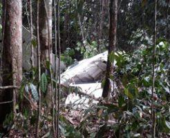 飛行機墜落する瞬間のコックピット映像!ジャングルに突っ込み2名死亡…