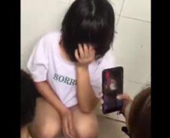 JCがいじめられる動画がSNSで拡散されてしまう…一人の少女を殴る蹴るの暴行するヤンキー女たち