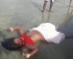 レイプされ殺された女性の浜辺に打ち上げられた姿がこちら…