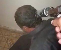 サイレンサー付きの拳銃で頭を撃ち抜かれる映像を高画質で…