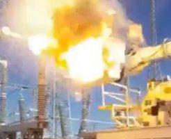 変電所でのメンテナンス事故!作業していた人が爆発に巻き込まれる…