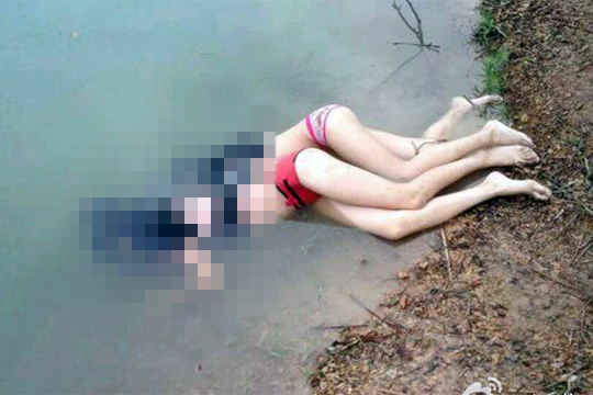 【閲覧注意】2人の溺死女子中学生が発見される・・・(4枚)